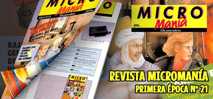 Revista Micromanía Primera época Nº 21 (1987)