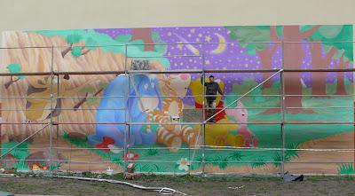 Malowanie obrazu na ścianie, aranżacja pokoju dziecięcego, Wrocław