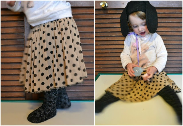 Sewing for the Girl: Gathered Polka Dot Skirt