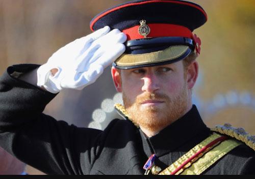 Принц Гарри отдает честь