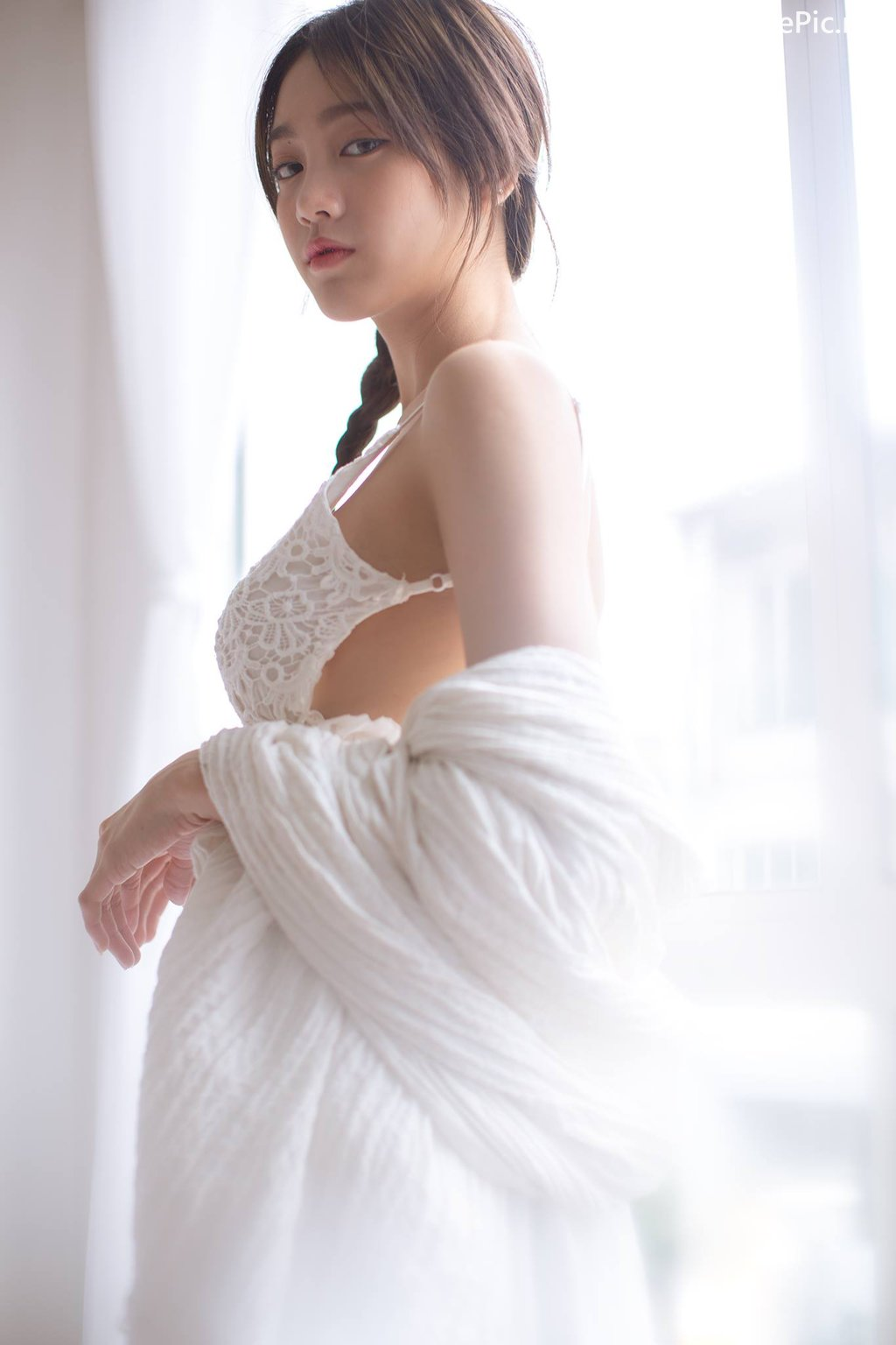 Image Thailand Model - Pimploy Chitranapawong - Beautiful In White - TruePic.net - Picture-6