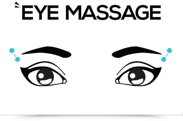 titik pijat ada di bagian luar atas mata