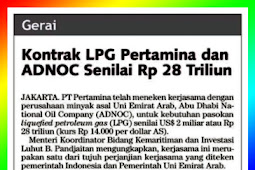 Pertamina and ADNOC LPG Contract Worth IDR 28 Trillion