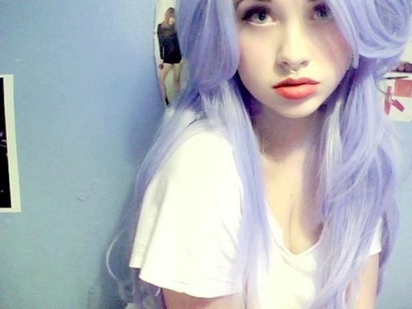 inspiração cabelo lilás