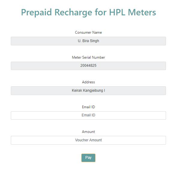 hpl meter recharge