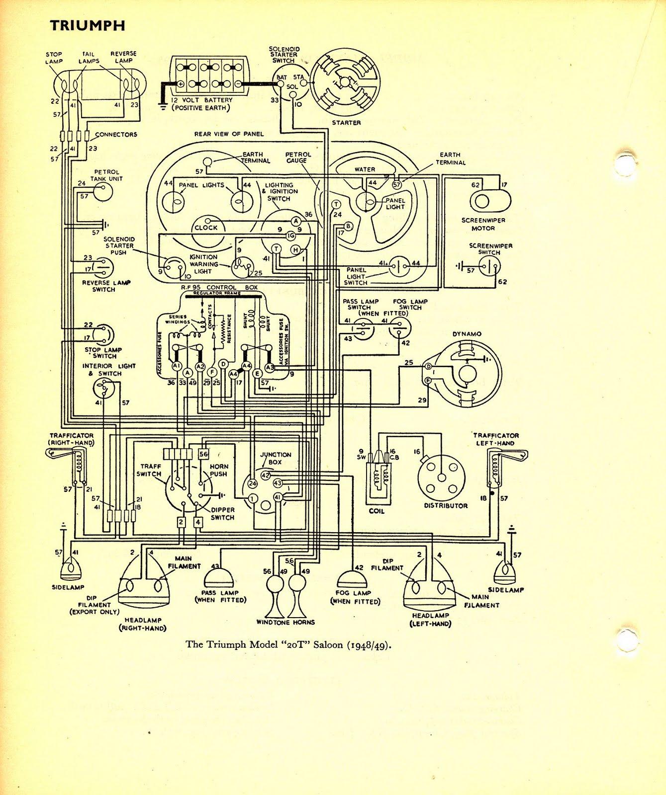 12 volt wiring diagram triumph wiring diagram