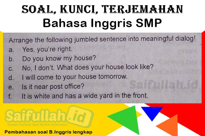 Arrange the following jumbled sentence into meaningful dialog!