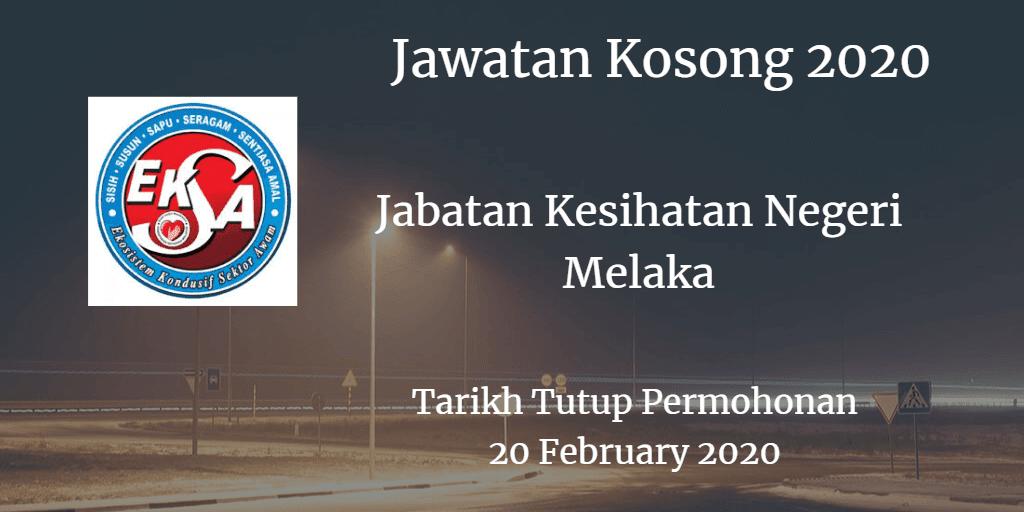 Jawatan Kosong JKN Melaka 20 February 2020