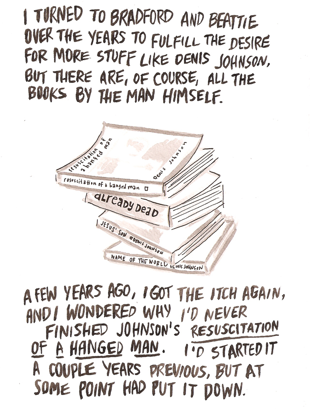 bam blog reading lists an illustrated essay about denis johnson denis johnson will from and discuss his work at eat drink be literary on thursday 21st in bamcafe co presented by the national book
