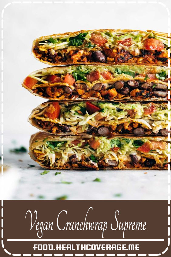 This vegan crunchwrap is INSANE! Stuff this bad boy with whatever you like - I made it with sofritas tofu and cashew queso - and wrap it up, fry, and devour! Favorite vegan recipe to date.