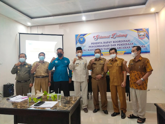Wabup Pasbar Membuka Rakor Pengembangan dan Pembinaan Kabupaten/Kota Tanggap Ancaman Narkoba