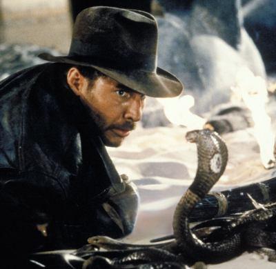 Indiana Jones hates snakes
