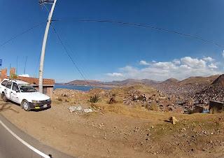 Puno / Peru vista do alto.