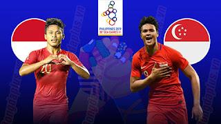 U22 Indonesia 2-0 U22 Singapore: indonesia  Vươn lên vị trí thứ 2 bảng B