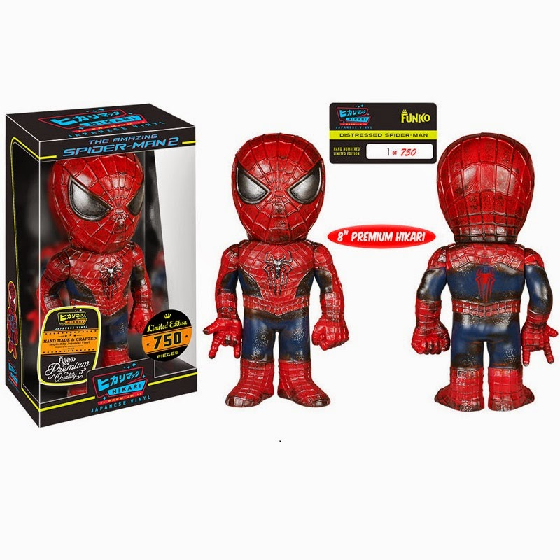 Distressed Spider-Man Premium Marvel Hikari Sofubi Vinyl Figure by Funko