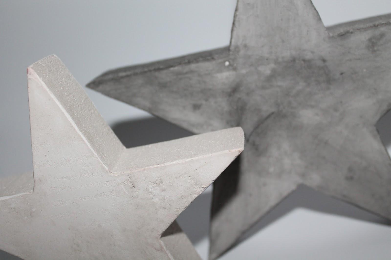 DIY, Basteln: Gips / Beton Sterne als Dekoration, Gartendekoration, Weihnachtsdekoration und Geschenkidee - DIYCarinchen