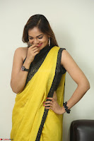 Cute Actress Ashwini in Yellow Saree Exclusive  047.JPG
