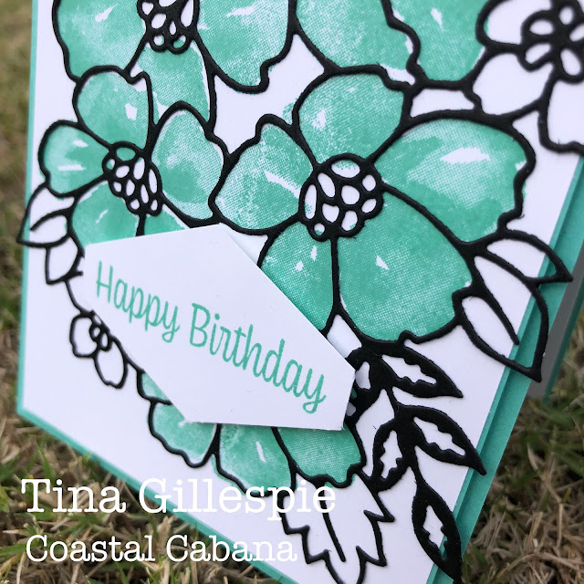 scissorspapercard, Stampin' Up!, Colour Creations, Blossoms In Bloom, Sweet As A Peach, Many Layered Blooms Dies, Tailored Tag Punch