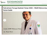BLUD Rumah Sakit Umum Daerah M Natsir - Solok Kota Simpang Rumbio