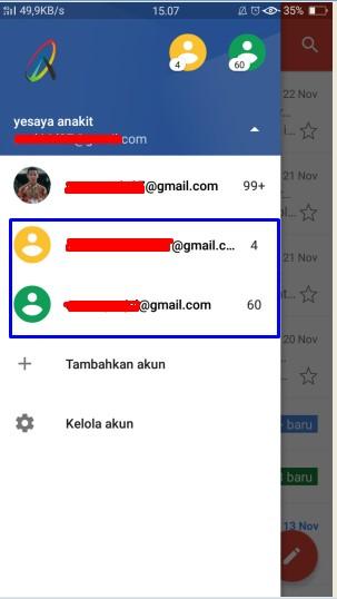 1 email digunakan 2 hp android yang berbeda