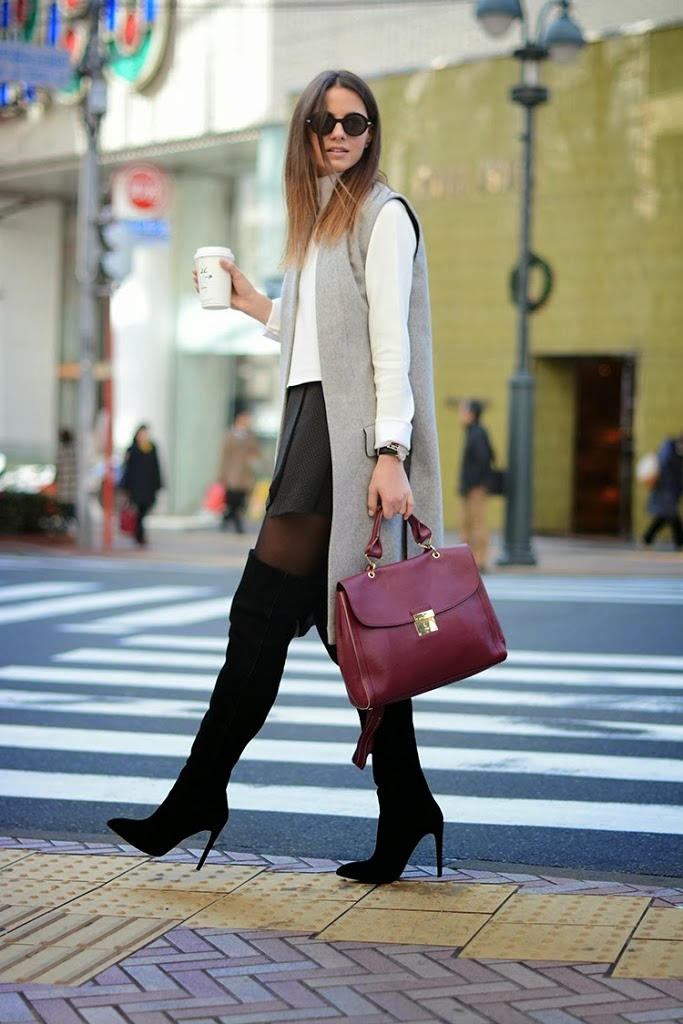 ... saber cómo combinar un abrigo rosa pastel. Charada   Looks para. Charada    Tendencias 2014 2015  Chalecos maxi rectos y e514051c6d90