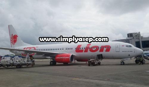 PESAWAT : In jenis Pesawat LION AIR yang saya foto dseberang pesawat LION AIR JT 814 Tujuan Malang yang saya tumpangi (23/1). Sebagai ilustrasi saja. Jenis saya adalah Boeing 737-800 NG. Foto Asep Haryono