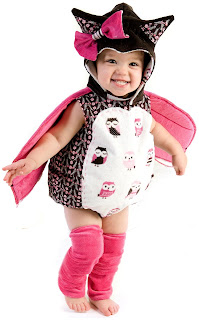 Girls Emily the Owl Infant Costume for Halloween