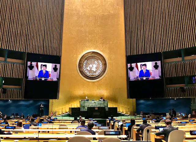 President of Indonesia, H.E. Joko Widodo, addressed the UN General Assembly