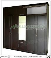 Lemari minimalis full plafon unit cabinet Ace