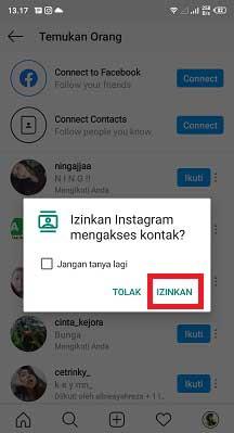 Cara Mencari Teman Di Instagram Lewat No HP