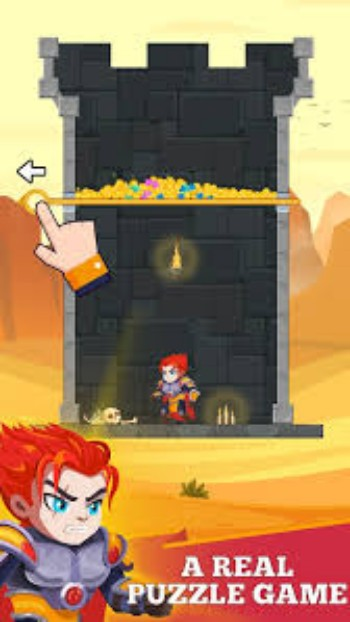 Hero Rescue Mod Apk is a unique puzzle game for Android