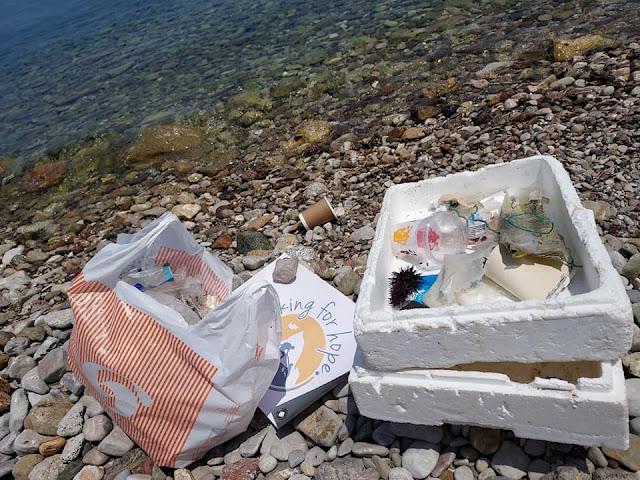"""Την παραλία Καλυμνιό στην Αρχαία Επίδαυρο """"υιοθέτησε"""" η  ομάδα Hiking for hope"""
