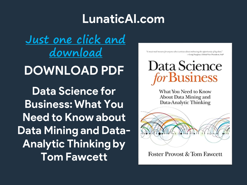 Data Science for Business O'Reilly PDF