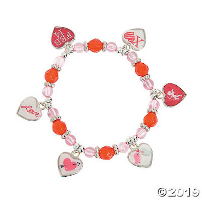 DIY Framed Heart Charm Bracelet Craft Kit for kids