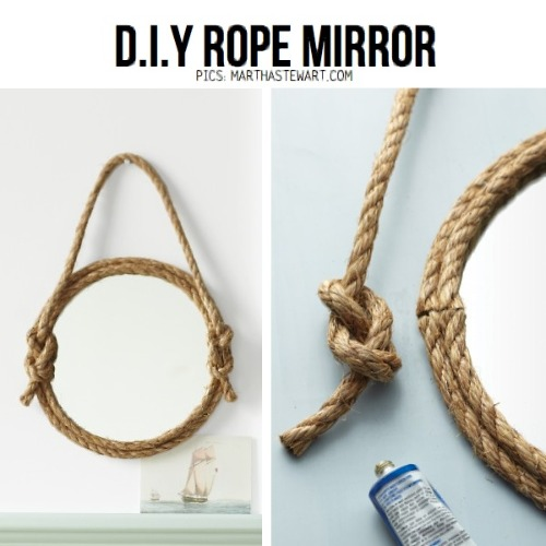 Round Rope Mirror Tutorial by Martha Stewart