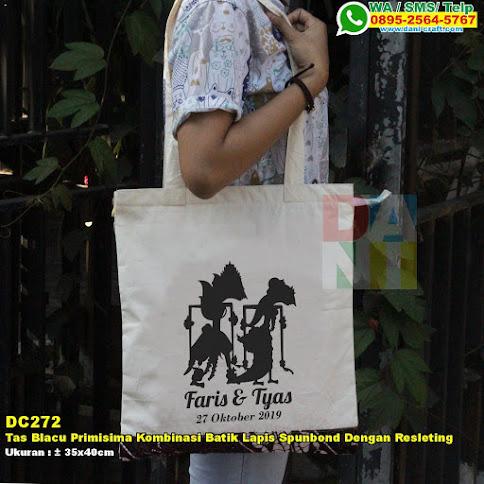 Tas Blacu Primisima Kombinasi Batik Lapis Spunbond Dengan Resleting