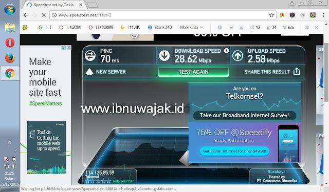 kecepatan telkomsel 4G LTE