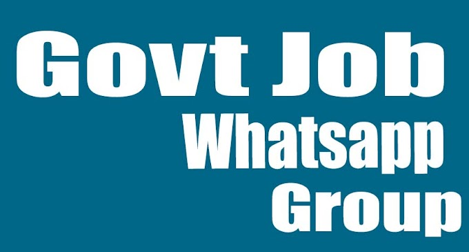 Latest government jobs whatsapp group link - Jobs whatsapp group