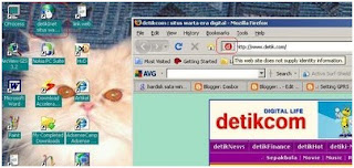 Menampilkan shortcut web favorit di desktop