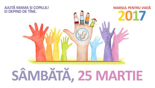 Marşul Pentru Viaţă La Timisoara - 25 Martie 2017