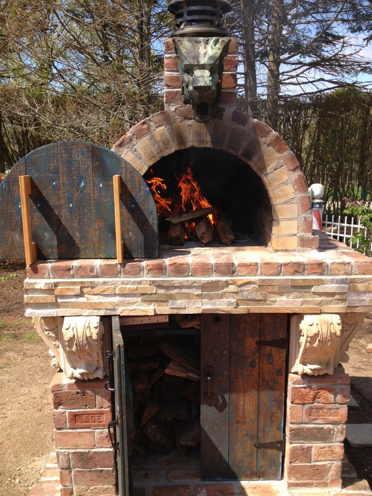 BrickWood Ovens: Gothic Wood Fired Brick Pizza Oven with ...