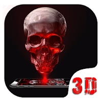 Red Blood Skull 3D Theme Apk free Download for Android