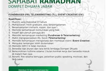 Lowongan Kerja Bandung Sahabat Ramadhan Dompet Dhuafa Jabar