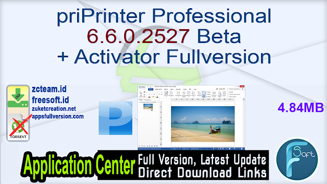 priPrinter Professional 6.6.0.2527 Beta + Activator Fullversion