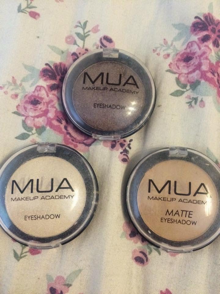 Review Mua Professional Eye Primer: Sophie Hearts..: Review: MUA Individual Eyeshadows