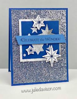 VIDEO: Stampin' Up! Stars Are Shining Catalog CASE + 3 Be Dazzling Cards ~ July-December 2021 Mini Catalog ~ www.juliedavison.com #stampinup