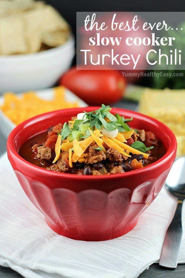 The Best Slow Cooker Turkey Chili - comforting and delicious dinner