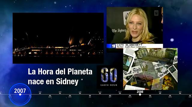 Imagen de un vídeo promocional de La hora del planeta