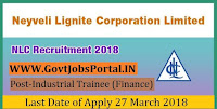 Neyveli Lignite Corporation Recruitment 2018-50 Industrial Trainee (Finance)