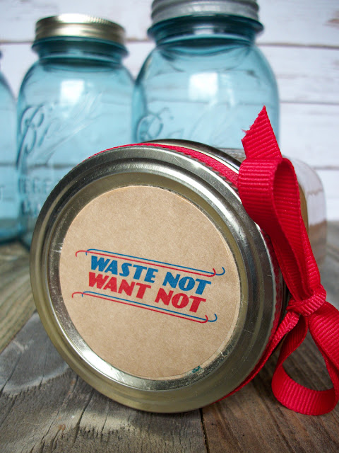 Waste Not Want Not Canning Jar Labels